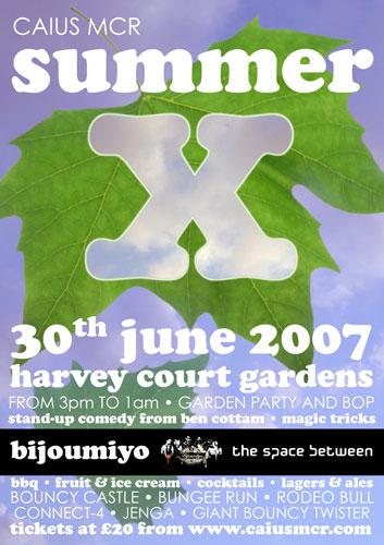 Summer X poster