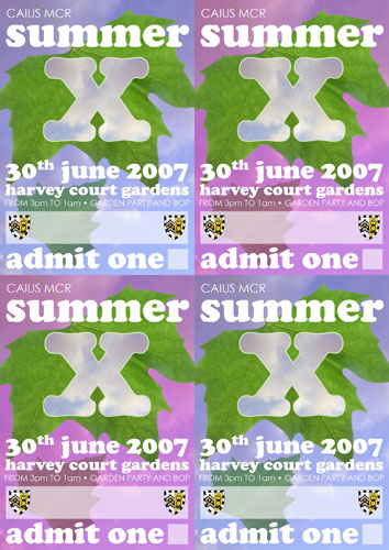 Summer X tickets