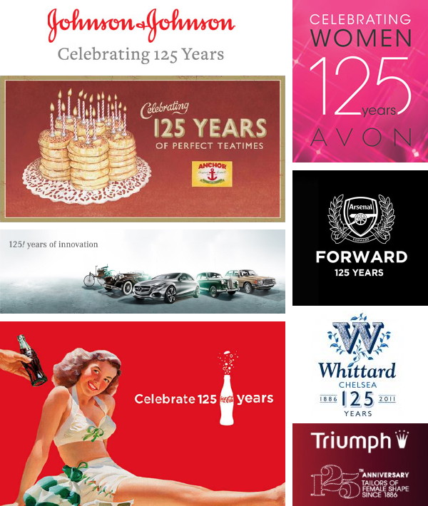 125 years of brands