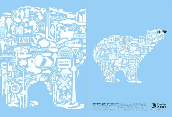 Toronto Zoo polar bear poster 2009